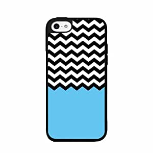 Blue Black and White Chevron Plastic Phone Case Back Cover iPhone 4 4s
