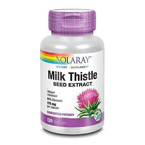 Solaray Milk Thistle Extract Supplement, 175mg, 120 Count