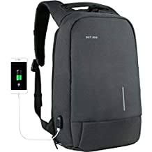 Backpack for Men 15.6 inch Anti-Theft Laptop Backpack with External USB Port Water-Repellent Business Backpack for Work College Travel, Shockproof Computer Backpack with Two Padded Laptop Compartments