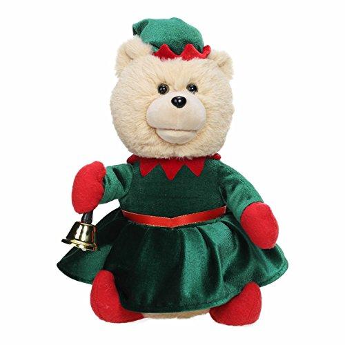 Nika International Gift Toy Rockin' Around the Christmas Tree Singing Teddy Bear Ellie Stuffed Animal Animated (Animated Musical Christmas Tree)