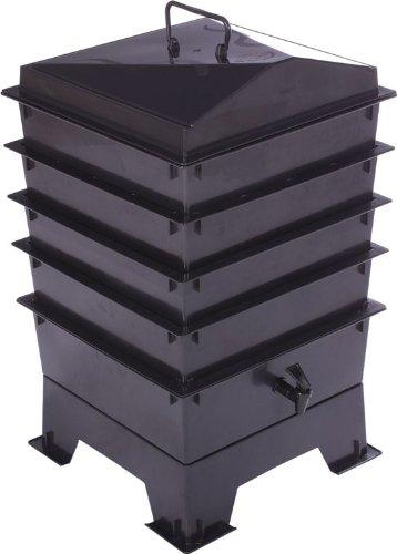 Tacho Wormery de fácil acceso, con 4 bandejas, incluye gusanos ...