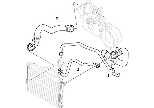 BMW Genuine Cooling System Water Hose Pipe E53 11537500750