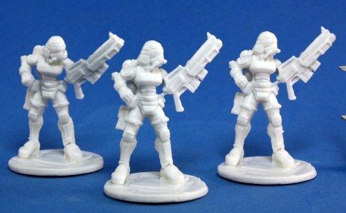 Reaper Miniatures 80013 Bones - Chrono Nova Corp Female 3 Miniature