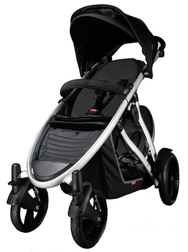 Phil Teds VERVEREDKIT Verve Stroller with Doubles Kit in Red Black