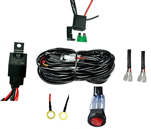 Cutequeen Wiring Harness Kit- 40 Amp Relay-on-off Switch- For - Import on