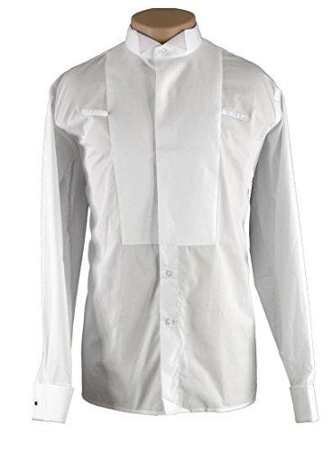 BD1002 Mens Ballroom Standard Dance Pique Black Tie Tuxedo Shirt (18