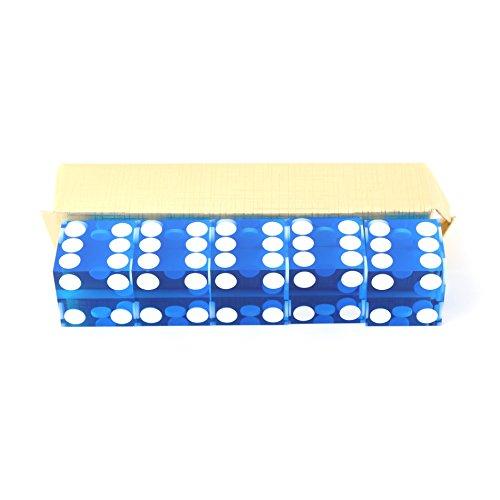 IDS Blue Casino Craps Dice 19mm Grade Set of 5 Razor Edge Stick by IDS