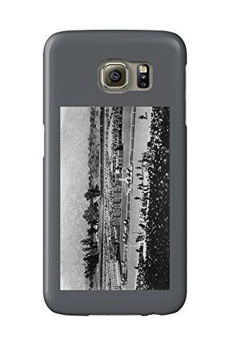 Los Angeles, California - The Home Stretch at Santa Anita Track (Galaxy S6 Cell Phone Case, Slim Barely - Anita Mobile Santa