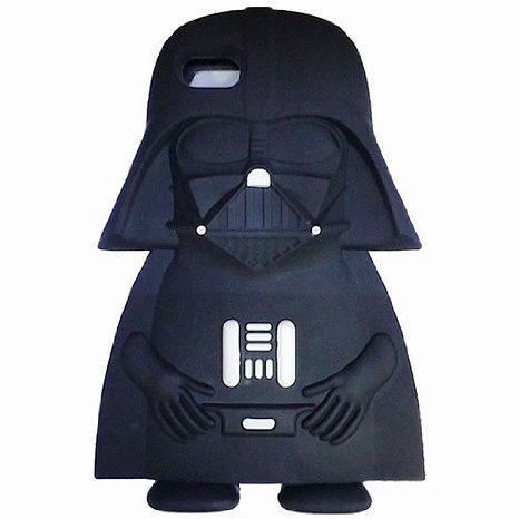 iPhone 4 4S Case, Anya 3D Cute Bow Series Style Cartoon Soft Rubber Silicone Back Shell Case Cover Skin for Apple Iphone 4 4S Darth Vader