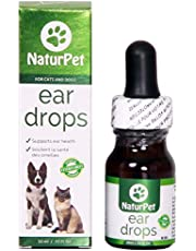 NaturPet Ear Drops | Natural Ear Infection Medicine for Dogs and Cats | Ear Cleaning | Wax, Yeast, Itching, Odours
