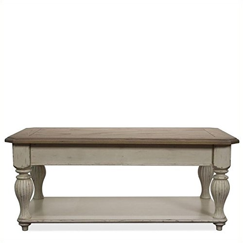 Beaumont Lane Lift Top Rectangular Coffee Table in Dover White