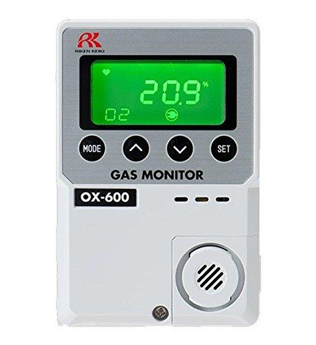 (RKI 72-1004 OX-600 oxygen monitor,0-25%,battery operated (2 AA batteries))