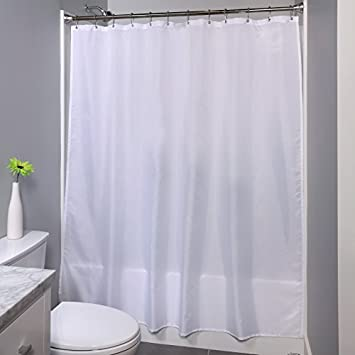 70quot X 72quot Mildew Resistant Fabric Shower Curtain Liner With