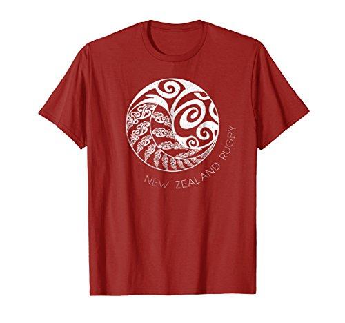 New Zealand Rugby T Shirt Maori Inspired Kiwi & Silver Fern+