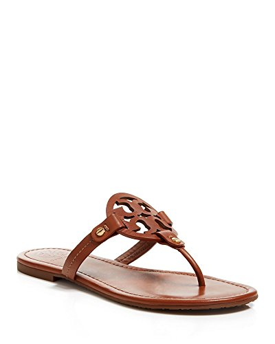 Tory Burch Miller Metallic Sandal Womens (8, Vintage - Tory Brown Burch