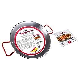 MageFesa Carbon Steel Paella Pan, 17 Inch