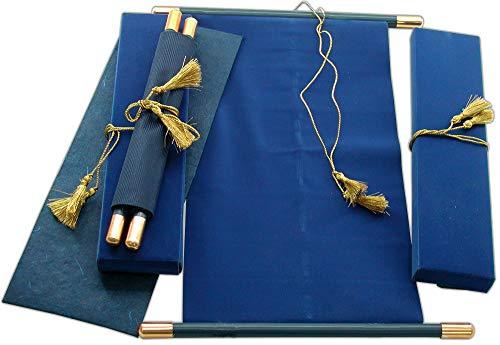 High-end Scroll Wedding Invitations, Birthday/Anniversary Scroll, Wedding Scrolls (Navy Blue) (Anniversary Scroll)