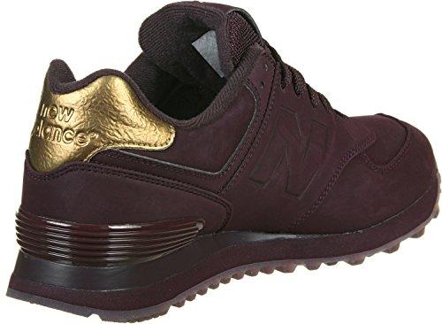 New Balance 574, Zapatillas para Mujer Maroon