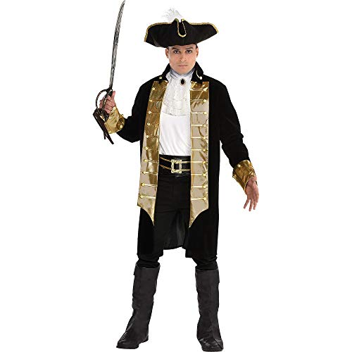 SUIT YOURSELF Treasure Captain Pirate Costume for Men, Standard Size, Includes Jacket, a Hat, a Jabot, a Belt, and More]()