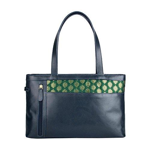 HIDESIGN Women's Hema Leather Handbag, Blue