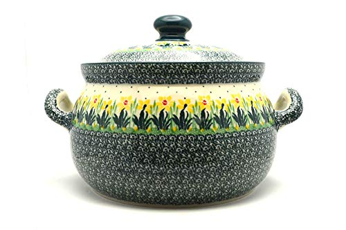 Polish Pottery Covered Tureen (without ladle slot) - Daffodil