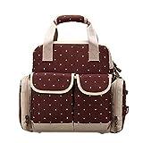 ALLDECOR Multifunction Shoulder Bag Handbag Women Wave Point Satchel Backpack
