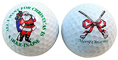 Merry Christmas Hole In One Funny Golf Balls Gift Pack