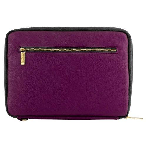 "VanGoddy Irista ECO Leather Sleeve for Chromo / Chuwi / Tagital / Prontotec 7 to 8"" Tablets (Purple Plum & Black)"