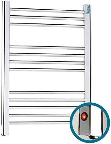 FARHO Secador de Toallas Electrico Nova Eco Little Blanco 250W /· Radiador Toallero Electrico Bajo Consumo /· Toalleros de Ba/ño//Calentador Toallas con Termostato ON//Off Medidas 700 x 500mm