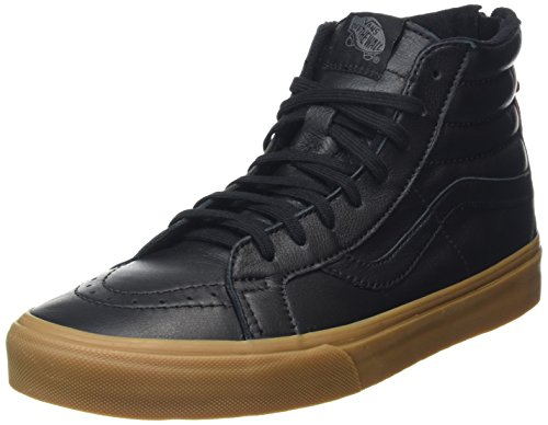 Vans Unisex-Erwachsene Sk8-Hi Reissue Zip High-Top Schwarz (Hiking black/gum)