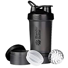 Leak-proof, expandable, and unbelievably powerful, the BlenderBottle ProStak is the all-in-one solution for the serious athlete. The patented BlenderBall wire whisk delivers smooth shakes every time, while the unique Twist n' Lock jars offer ...