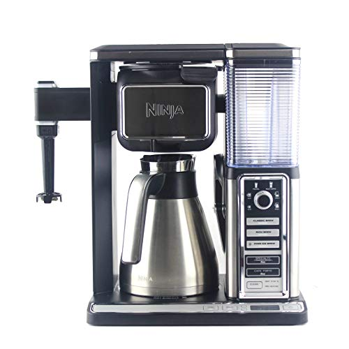 Ninja Coffee Bar Glass Carafe System Single Serve with Built in Frother CF091 (Renewed)