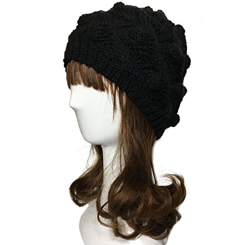 ZORJAR 100% Handmade Cold Weather Ball Design Knitted Hat Women or Men (Cold Weather Ball Cap)
