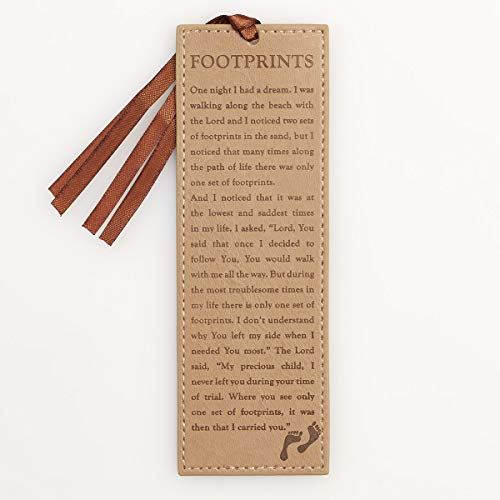 """Footprints"" Poem Faux Leather Pagemarker / Bookmark"