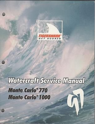 - 1997 ARCTIC CAT TIGERSHARK MONTE CARLO WATERCRAFT P/N 2255-691 SERVICE MANUAL (641)