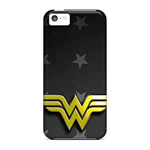 Awesome Wonder Woman Logo Flip Case With Fashion Design For Iphone 5c