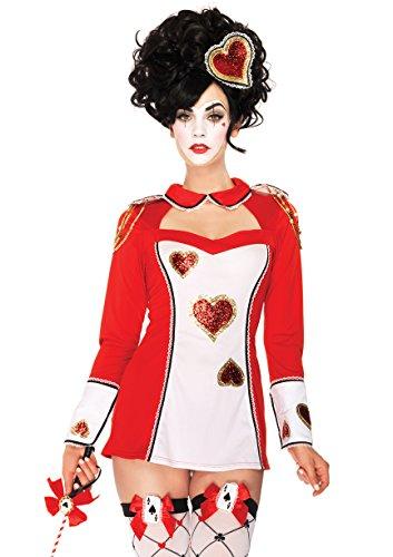 Leg Avenue Women's 3 Piece Card Guard Costume, Red/White, (Wonderland Card Guard Costumes)