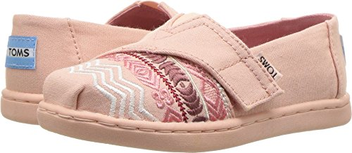 TOMS Kids Baby Girl's Alpargata (Infant/Toddler/Little Kid) Rose Cloud Global Embroidery/Canvas 2 M US ()