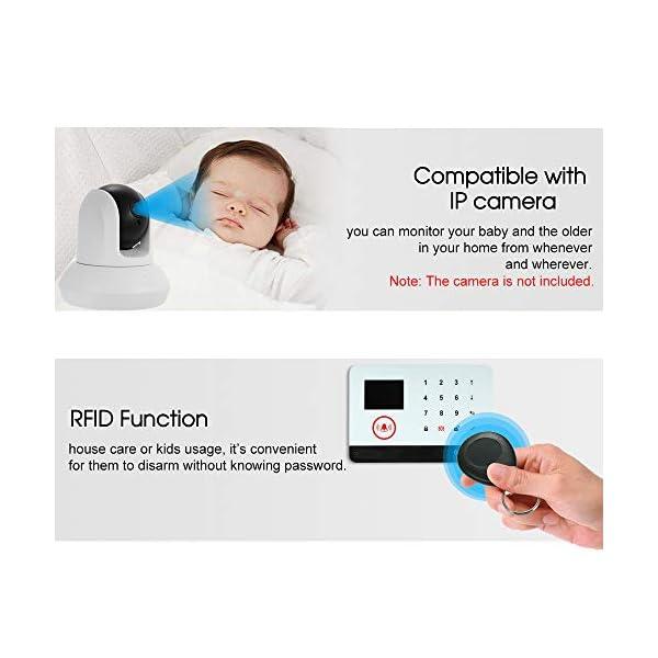 Owsoo Allarme Casa Kit 433MHz Allarme Senza Fili Wireless WIFI + GSM SMS Auto-dial LCD Sistemi di Allarme Domestico di… 4 spesavip