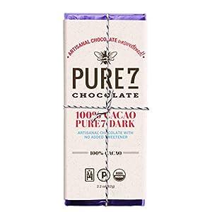 Pure7 100% Unsweetened Chocolate Bar, Paleo (2 oz.)