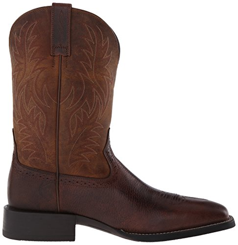 Western Sport Square Men's Fiddle Ariat Brown Wide Powder Toe Brown 1R6Wx