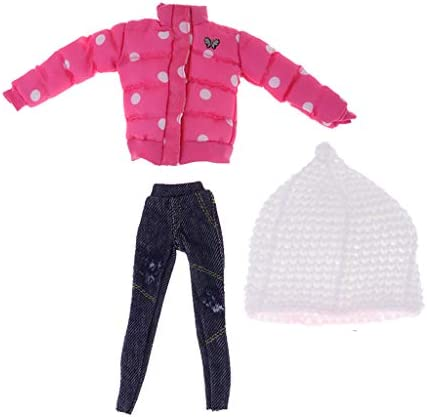 Tachiuwa 1/6 12インチドールドット付き厚手のジャケット&パンツブライスドールキット用ハットスーツ