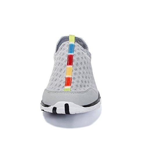 Mesh Voovix à Chaussures pour Aquatiques Hommes Respirant Légères Gris02 IxxtUr