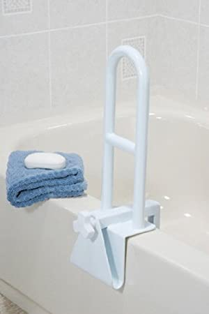 Amazoncom MedMobile Bathtub Grab Bar Locks to Tub Side for
