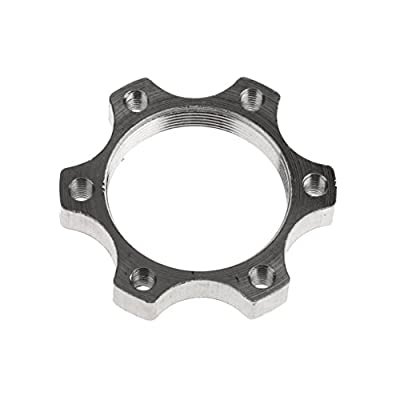Generic Heavy Duty Metal Bike Bicycle Freewheel Threaded Hubs Disk Disc Brake Rotor Flange Adapter - 34mm 6 Bolts