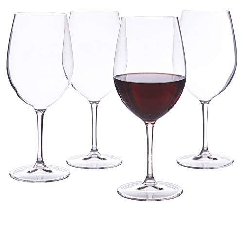 Franc Acrylic Red Wine Stems   set of 4