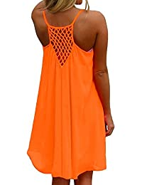 Women's Summer Sexy Vibrant Color Chiffon Dress Bathing Suit Cover up
