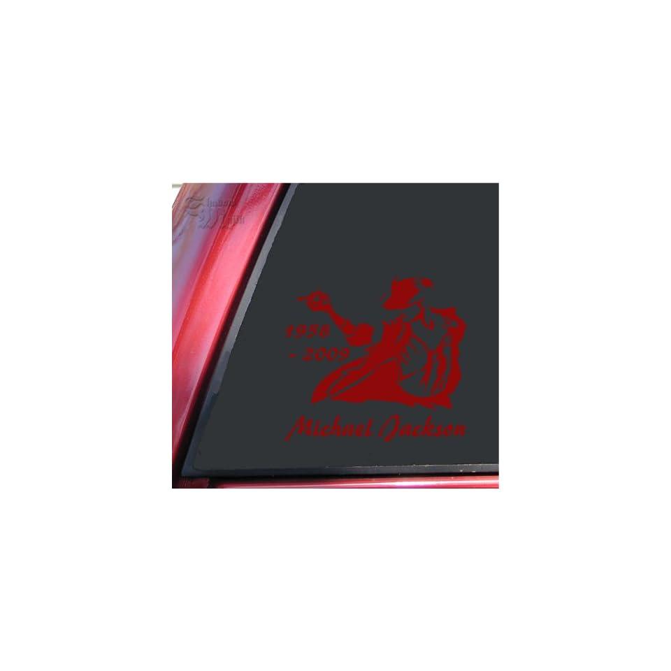 Michael Jackson 1958   2009 Vinyl Decal Sticker   Dark Red