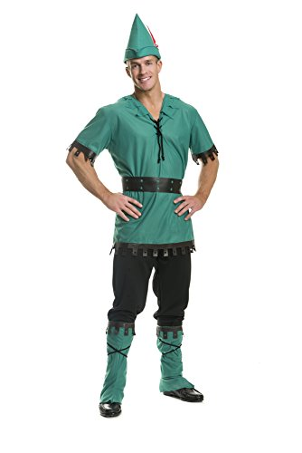Robin Costume Design (Charades Men's Robin Hood Costume, As Shown, Large)