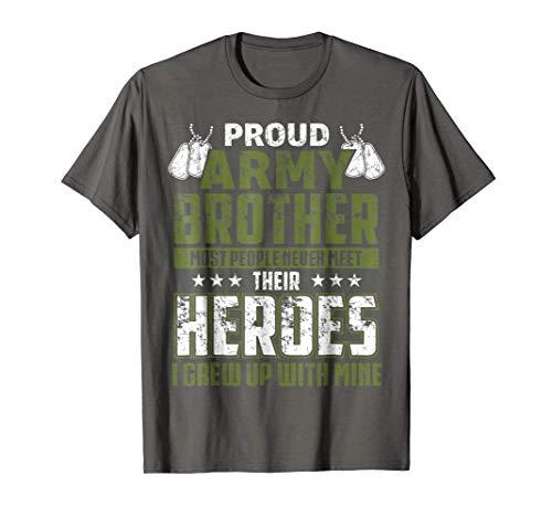 Proud Army Brother Shirt Patriotic Military Veteran T-Shirt